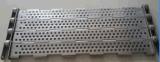 Banda transportadora plateada de metal para lavarse, secándose, tratamiento caliente