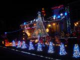 Straatlantaarn van het Hotel van de LEIDENE Decoratie van Kerstmis de Lichte