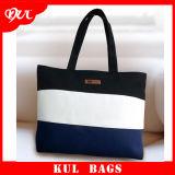 (KL054)環境に優しい縞の綿袋の方法戦闘状況表示板のハンドバッグ