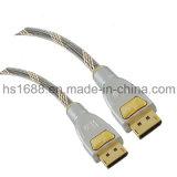 Mann der Qualitäts-50FT zum männlichen Displayport DP-Kabel