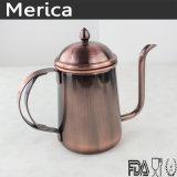青銅色のステンレス鋼のコーヒーやかん