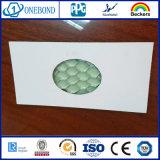 Bordi di alluminio del comitato del favo con la decorazione