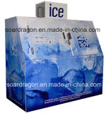 2개의 기우는 문은 세륨 증명서를 가진 얼음 저장통을 자루에 넣었다