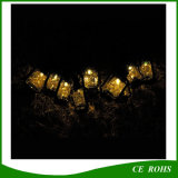 Warmes White 10 Solar String LED Lights für Christmas Decoration