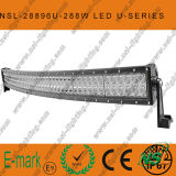 288W 크리 말에 의하여 구부려지는 U Series LED Light Bar, Road Driving 떨어져 Road Light Bar 떨어져 50inch 96PCS*3W LED