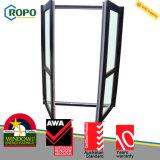 O dobro vitrificou a porta do indicador de UPVC, o indicador francês personalizado da cor e o projeto da porta