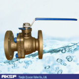ANSI / JIS / DIN de aluminio bronce / latón flotante Válvula de bola de brida