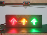 Kundenspezifische 100mm rote grüne Pfeil-Signal-Ampel des Gelb-LED