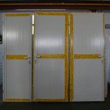 Porta de alumínio revestida do Casement do pó branco da cor com tamanho pequeno Kz151 do painel de alumínio
