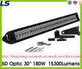5D 30 '' 180W óticos barra clara do diodo emissor de luz do carro de 15300 lúmens para o Wrangler Jk do jipe