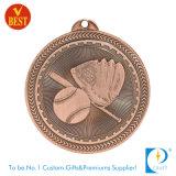 金の高品質によってカスタマイズされる野球メダルか銀または黄銅