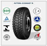 315/70r22.5 (ECOSMART 78) mit Qualitäts-LKW der Europa-Bescheinigungs-(ECE-REICHWEITE-KENNSATZ) u. Bus-Radialgummireifen