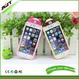 случай задней стороны обложки клетки/мобильного телефона шаржа кремния случая iPhone (RJT-0173)