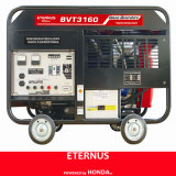 開いた炎のゆとりのパネルガソリン発電機(BVT3160)