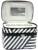 Nach Maß Travel Toiletry Wash Cosmetic Bag mit Two Layers