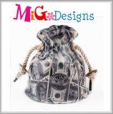 Venda cor-de-rosa cerâmica da parte superior da caixa de dinheiro do casamento do saco do chapeamento do baixo preço