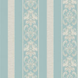 Bloemen en pvc Vinyl Wallpaper van Stripe Decorative voor Project