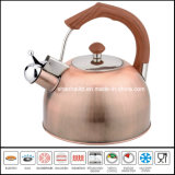 Cepillo de cobre de acero inoxidable Whistle Kettle