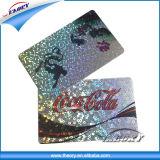 Tarjeta de laser plástica modificada para requisitos particulares venta caliente del PVC del plástico del carnet de socio de la tarjeta del holograma 2016