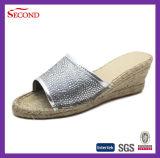 Nuovi sandali del cuneo della canapa delle donne di stile