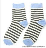 Chaussettes de jacquard de Stripes Cotton Winter Long de Madame (PTLS16103)