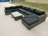 Mobilia stabilita del patio del sofà modulare del rattan