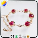 Bracelet simple de charme de trèfle de quatre lames d'amour doux beau