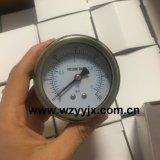 De Maat van de Druk van het Roestvrij staal van de Compressor van de lucht