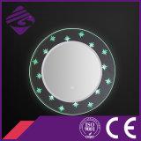 2016 Conception Rectangle LED rétro-éclairé Miroir de salle de bains avec Crystal base