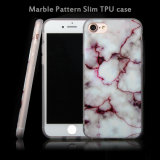 TPU Gel Soft Marble Pattern Back Case Cover, Durable Mobile Clear Slim Ultra Cover Case para iPhone 7