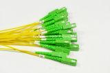 Pre-Прекращенный кабель, испытание 3D, шнур заплаты проламывания Mu-Sc/APC оптически, 24core 100%
