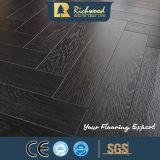 Commercial 12.3mm AC4 Embossed Teak Waxe3d Eded Strapped Floor