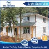 가벼운 강철 구조물 프레임을%s 가진 2채의 지면 조립식 집