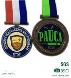 La medaglia placcata di sport del metallo di colore della pressofusione 3D due
