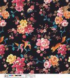 衣服の服のための印刷の花ポリエステルファブリックは靴を袋に入れる