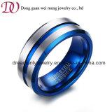IP Blauw Plateren 8mm de Ring van het Carbide van het Wolfram