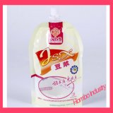 Sacs personnalisés de lait de soja de gicleur d'aspiration