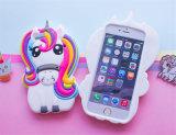 3D Dekking van de Gevallen van de Telefoon van de Cel van het Silicone van het Paard van de Eenhoorn Zachte voor iPhone 7 7plus (xsdw-102)