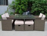 Rattan Mtc-017-4 ao ar livre que janta mobília ajustada com Footstool