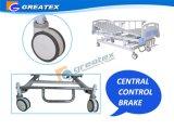 스테인리스 본부 Braker를 가진 수동 침대가 5개의 기능에 의하여 크랭크를 부착한다