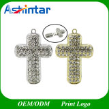 Diamond Cross Collier USB Memory Stick Crystal USB Flash Drive