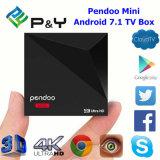 Téléchargement libre de $$etAPP androïde 7.1 de Pendoo du plus défunt cadre de l'androïde 7.1 TV le mini et Quarte-Faisceau Rk3328 64bit 1GB DDR3 8GB du joueur 17.1 de Kd