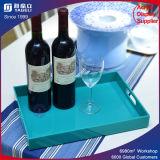 Акриловые подносы индикации бутылки вина служя поднос