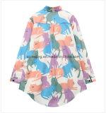 Camicia stampata del `S delle donne della fibra di acetato
