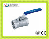 robinet à tournant sphérique fileté de l'acier inoxydable 1PC avec le certificat de la CE