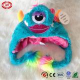 연약한 Comfortalbe 아기 선물 모자 장난감이 견면 벨벳 3 눈에 의하여 녹색이 된다