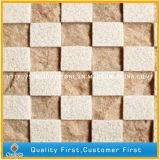 Естественная белая мраморный каменная мозаика искусствоа для предпосылки стены декоративной