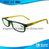 Alti vetri di lettura di disegno Tr90 di falsificazione del ponticello della punta degli occhiali protettivi