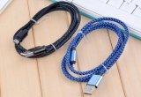 SamsungのタイプC充満データマイクロUSBケーブルのための1m 1.5m 2m 3mのナイロン編みこみの人間の特徴をもつV8