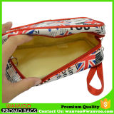 De draagbare Gele Polyester van het Bevestigingsmiddel 410d & de Kosmetische Zak van Pu voor Ladies